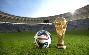 Picture The ball, Sport, Football, Brazil, Ball, Football, Stadium, Stadium, Brazil, Sport, Cup, Maracanã, Brazuca, Mario ...