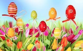 Picture Tulips, Eggs, tulips, Easter, eggs, Easter, Spring, spring