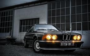 Picture car, BMW, Classic, black, E24, 635i