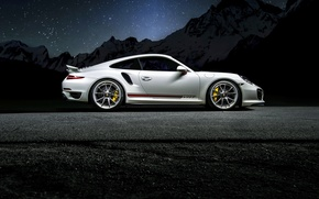 Picture Porsche, turbo, white, 991