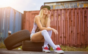 Picture Girl, Urban, Street, Break, Wheels, Dortmund, Container
