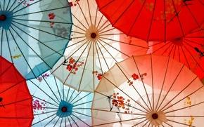 Picture background, color, umbrellas
