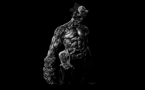Picture monster, muscles, Hellboy