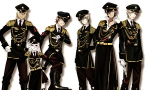 Picture gun, gloves, cap, military uniform, yata misaki, aiguillettes, epaulettes, project key, mikoto agrees to the …