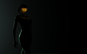 Picture background, the game, robot, Android, Mass Effect, Susie