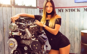 Wallpaper model, beauty, face, look, hair, figure, motor