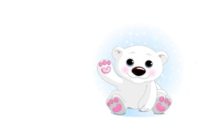 Picture background, mood, bear, white bear, children's, Alo, Umka