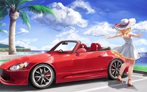 Picture Girl, Machine, Anime, Honda, Car, Car, S2000