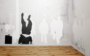 Picture stencil, graffiti, wall, people, flooring, street, vhm_alex, how to disappear completely, case