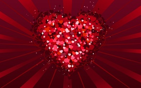 Picture love, red, heart, Valentine's day