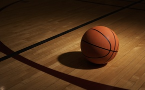 Picture Wallpaper, the ball, shadow, Sport, basketball