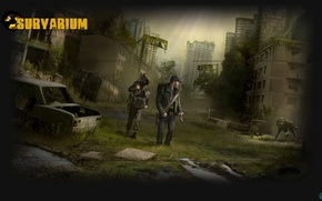 Picture wolf, machine, AK-47, SVD, two people, survarium, MMO shooter, S. T. A. L. K. E. …