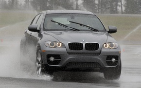 Picture auto, squirt, movement, bmw, BMW, puddle