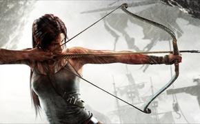 Picture girl, bow, arrow, Tomb Raider, Lara Croft, string, Lara Croft