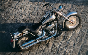 Picture silver, casting, Harley Davidson