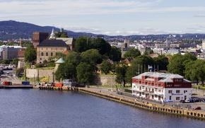 Picture Norway, building, Oslo, Norway, pier, Oslo