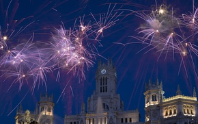 Picture salute, fireworks, Spain, Madrid