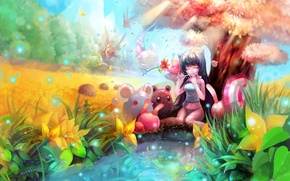 Picture fiction, the game, creatures, girl, the magical world