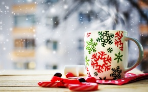 Picture winter, holiday, new year, Christmas, Cup