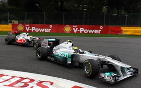Wallpaper race, track, fight, turn, formula 1, pilot, mercedes, Mercedes, formula 1, racer, 2011, formula one, ...
