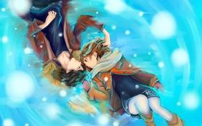 Wallpaper snow, love, art, guy, manga, mittens, nakamuramiharu, futaba young, Nakamura Miharu, sakisaka this, the road ...