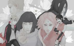 Picture Sasuke, Naruto, Sakura, naruto, art, realistic, Hinata, uchiha clan, Sarada, Boruto, by April, Uzumaki clan, …