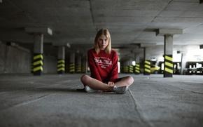 Picture girl, coca-cola, Kiev, Parking