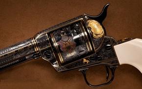 Wallpaper revolver, colt, decoration, drum