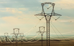 Wallpaper cables, electricity, transmission lines high voltage