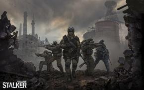 Picture art, soldiers, stalker, Stalker, online
