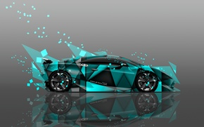 Picture Color, Lamborghini, Wallpaper, Fragments, Car, Art, Abstract, Photoshop, Photoshop, Abstract, Design, Style, Wallpapers, Side, Lamborghini, ...