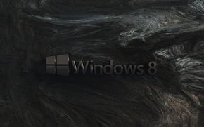 Picture computer, rock, wall, texture, logo, emblem, windows, operating system
