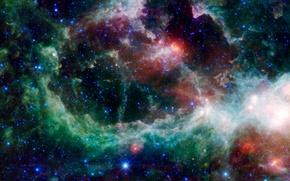 Picture space, stars, star formation, nebula Heart, nebula Heart