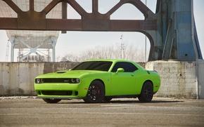 Picture Dodge, Challenger, Green, Hellcat, SRT