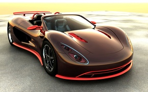 Picture machine, supercar, without a roof