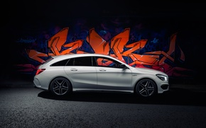 Picture graffiti, Mercedes, Mercedes, graffiti, AMG, AMG, UK-spec, Shooting Brake, CLA 45, 2015, X117