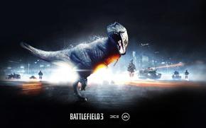 Wallpaper dinosaur, lizard, roar, battlefield 3