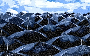 Picture mediocrity, vector, umbrella, Rain, weather