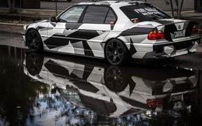 Picture BMW, Tuning, BMW, winer, Alpina, E38, 740il, arctic camo, camo