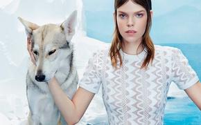 Picture model, dog, photoshoot, 2015, Numero, Meghan Collison-1