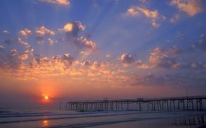 Picture Beach, pier, FL