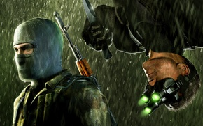 Picture knife, chaos theory, splinter cell, special agent, terrorist
