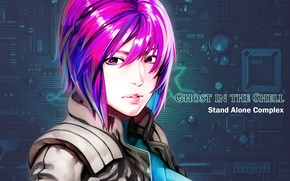 Picture girl, text, scheme, Ghost in the Shell, major, stand alone, Kokak Is A Kido Or, …