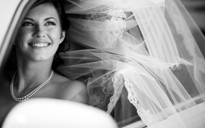 Picture machine, background, black and white, Wallpaper, mood, pearl, beads, decoration, the bride, wedding