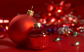 Wallpaper glass, holiday, tinsel, background, toys, Christmas decorations, Wallpaper, new year, mood, balls, photo