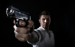 Picture gun, weapons, the situation, guy