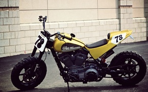 Picture Harley Davidson, Motorcycle, Flat Tracker