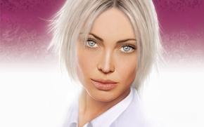 Wallpaper look, portrait, blonde