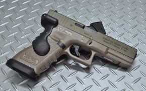 Picture gun, weapons, background, Glock, self-loading