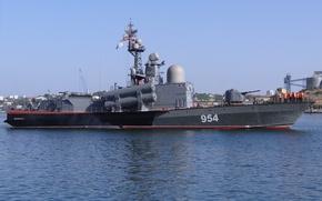 "Picture ship, base, Navy, rocket, Sevastopol, The Black Sea Fleet, RCA, ""Ivanovets"""